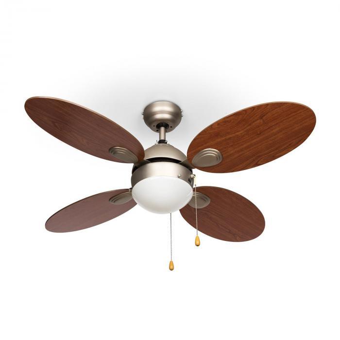 """Valderama Ventilatore da Soffitto 42"""" 60W Lampadario 2x43W Ciliegio"""