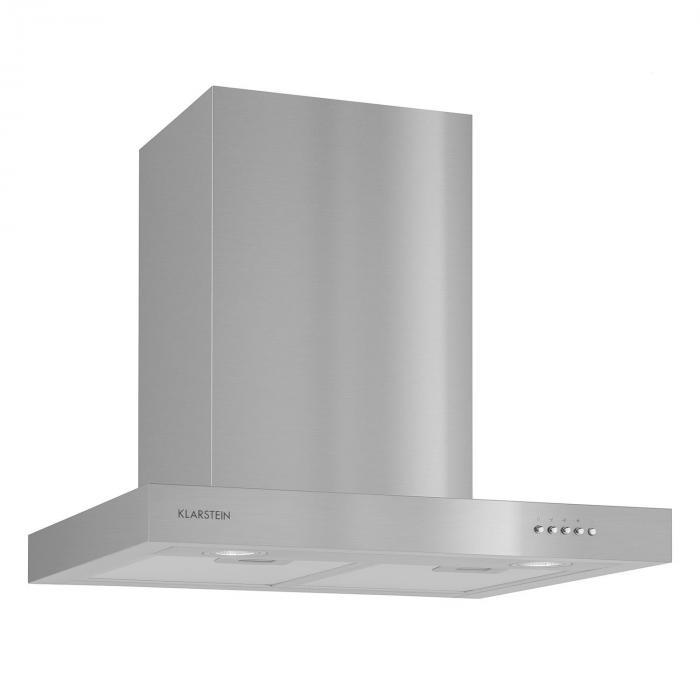 Zarah Cappa Aspirante Acciaio Inox 60 cm Montaggio a Parete 620 m³/h LED