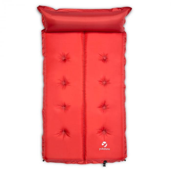 Yukatana Goodbreak 10 Mata izolacyjna Podwójny materac powietrzny 10cm grubości Poduszka pod głowę czerwona