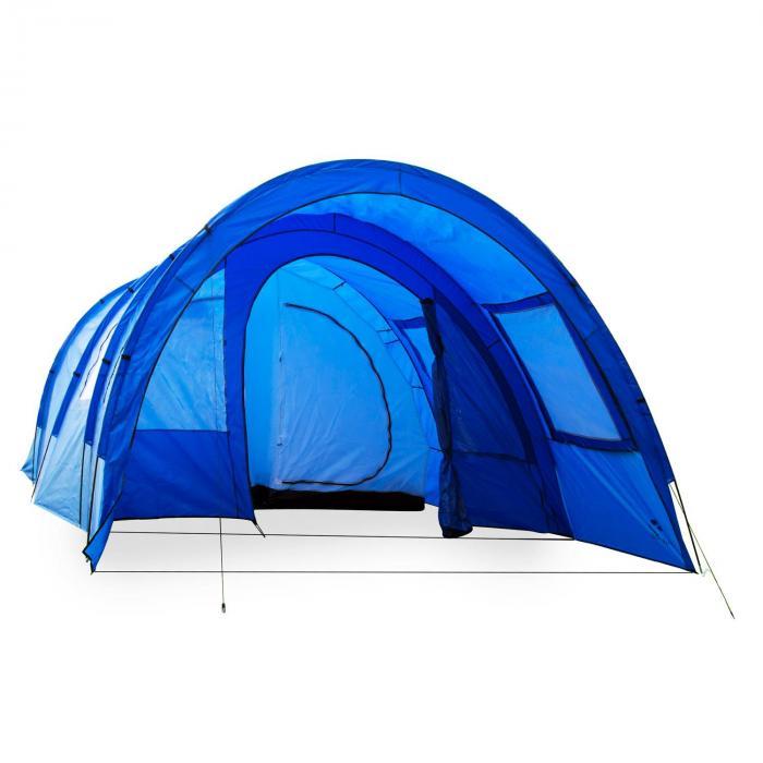 Mozori Tunnelzelt 4 Personen 305x205x475 cm Polyester 5000 mm blau