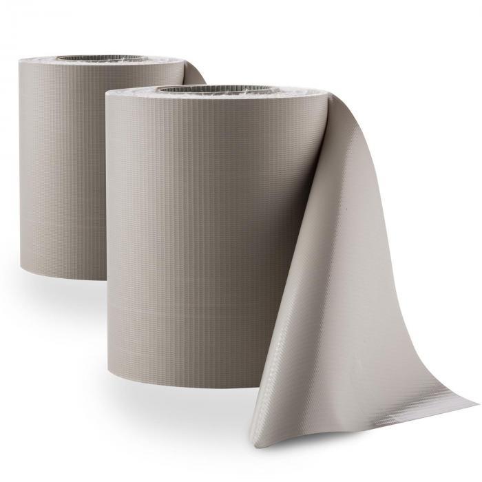 Pureview 2 Rotoli di Copertura PVC 35m x 19cm 60 Fascette Grigio Chiaro