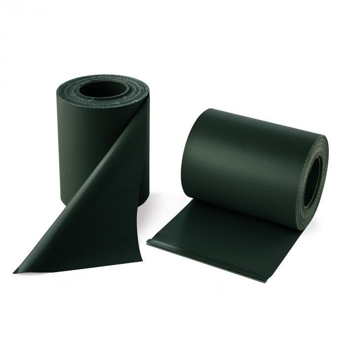Pureview näkösuoja PVC 2 rullaa 35m x 19cm, 60 kiinnityslistaa vihreä