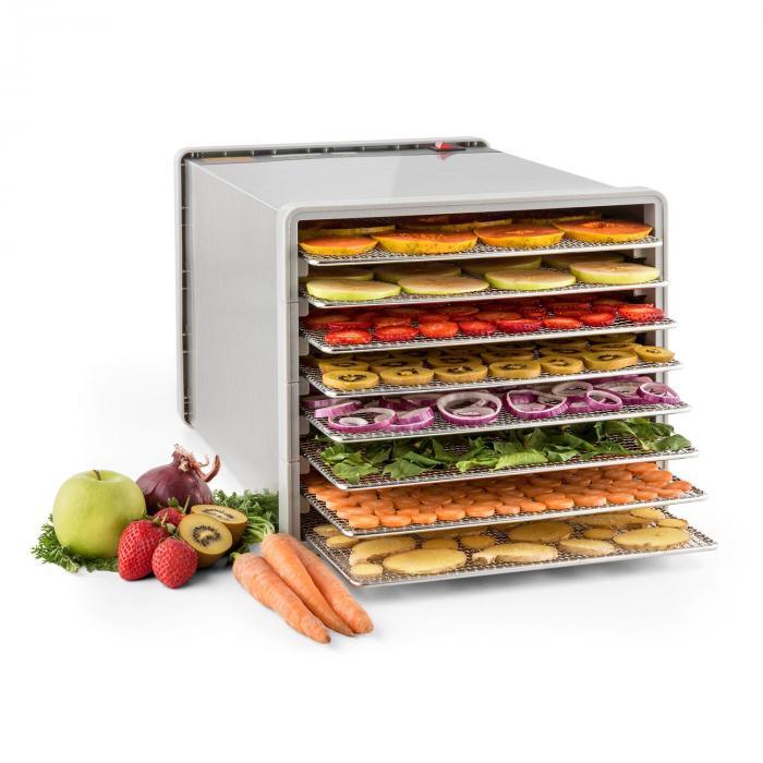 Fruit Jerky Pro 8 Essiccatore per Alimenti 630W 8 Piani Acciaio Inox
