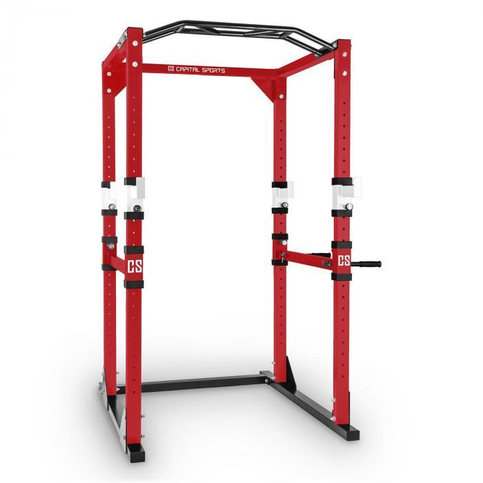 Capital Sports Tremendour Power Rack Domowy przyrząd gimnastyczny Stal czerwony biały