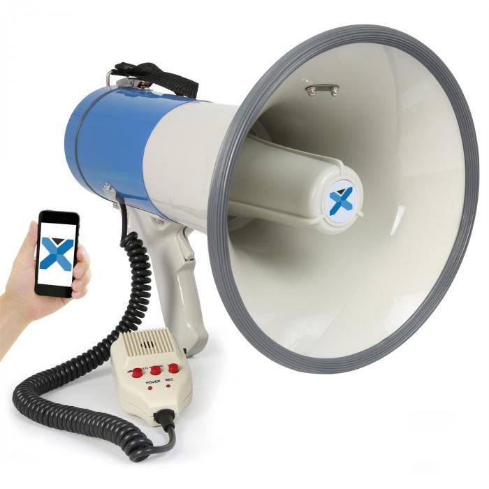 Vexus MEG055 megafon 55W Bluetooth USB SD Mp3 nagrywanie mikrofon zasilanie z baterii