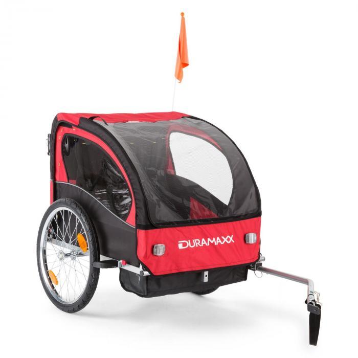 DURAMAXX Trailer Swift Kinderfahrradanhänger Babytrailer 2-Sitzer max. 20 kg
