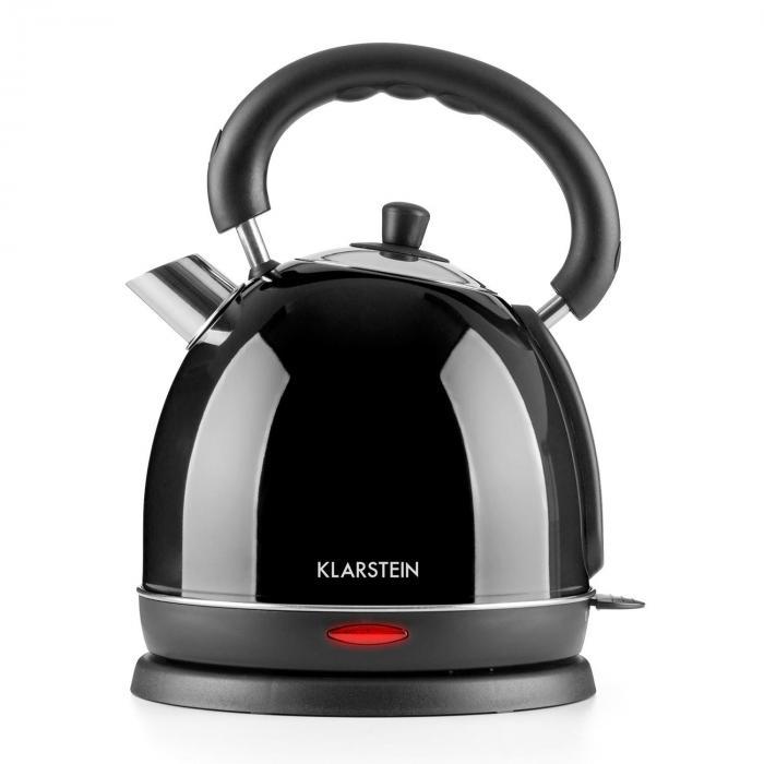 Klarstein Teatime czajnik elektryczny imbryk 3000 W 1,8l stal nierdzewna czarny