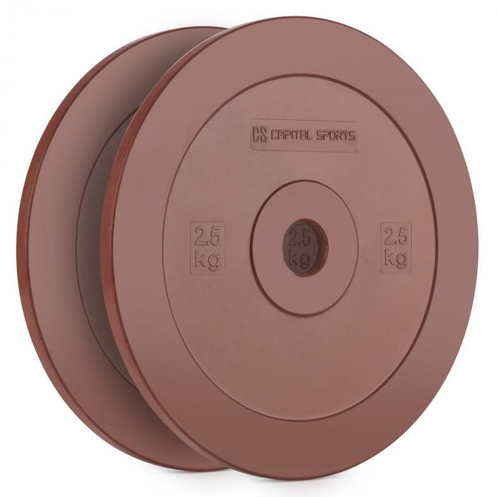 Methoder Technique Training Discs Weight Plates Rubber Pair 2.5 kg Red