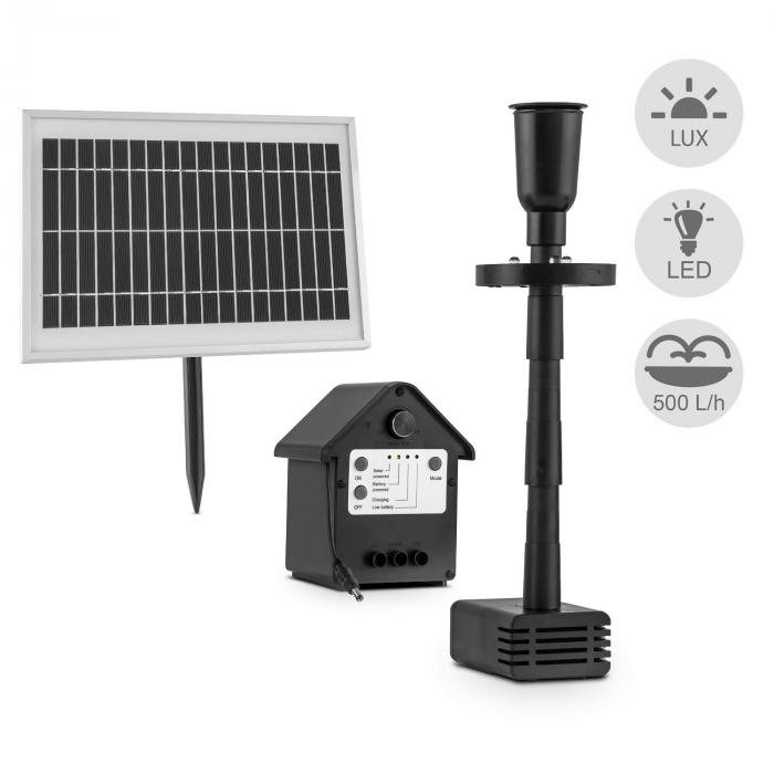Wasserwerk 500 waterpomp solar fontein 500 l/h LED accu
