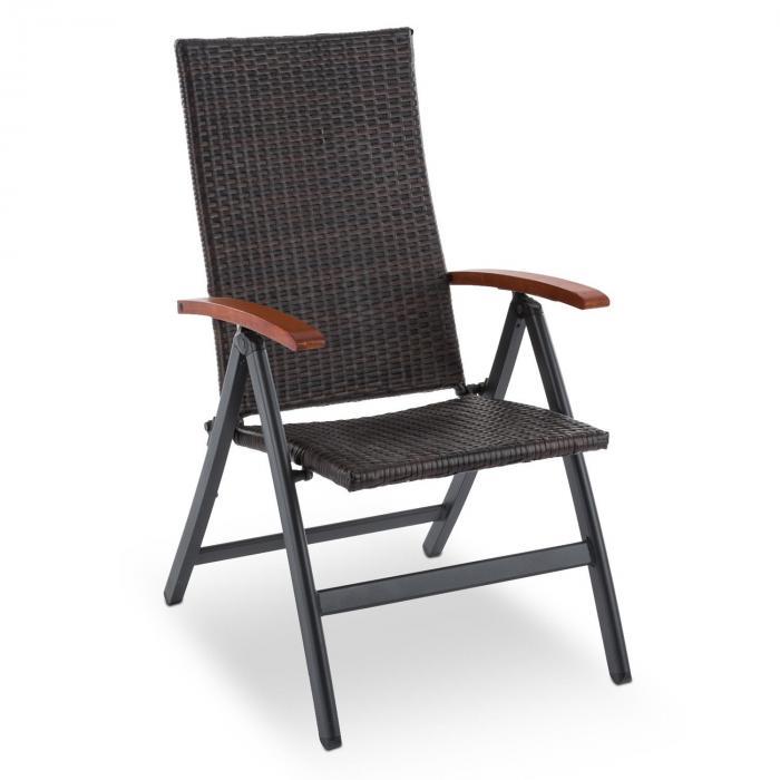 korsika klappstuhl mit armlehnen 58 5x103x75 cm polyrattan aluminium online kaufen. Black Bedroom Furniture Sets. Home Design Ideas