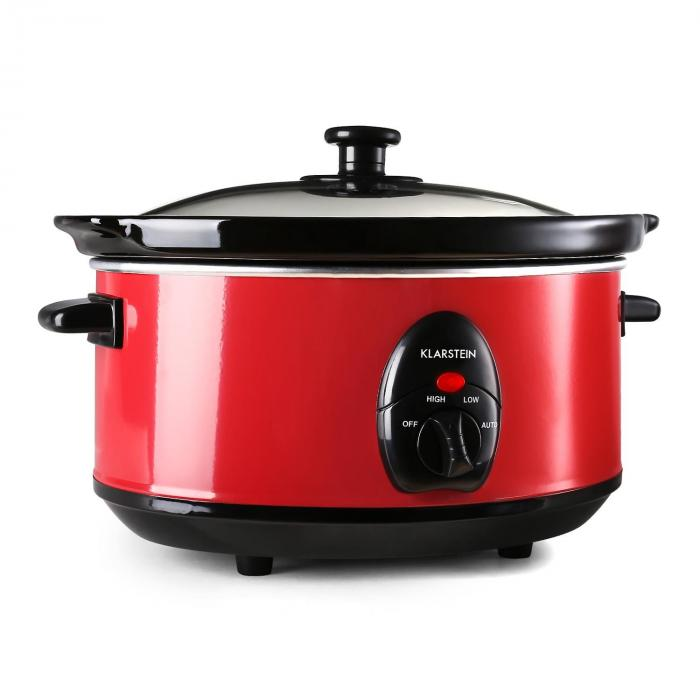 Bristol 35 Slow Cooker Pentola A Cottura Lenta 3,5 litri 200W Rosso