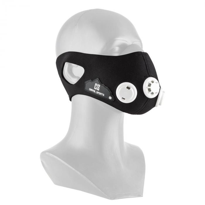 Capital Sports Breathor maska treningowa wysokogórska 7 nasadek rozmiar S czarna