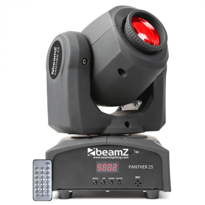 Beamz Panther 25 spotów LED Ruchoma głowa 7 efektów Gobos 7 kolorów włącznie z p