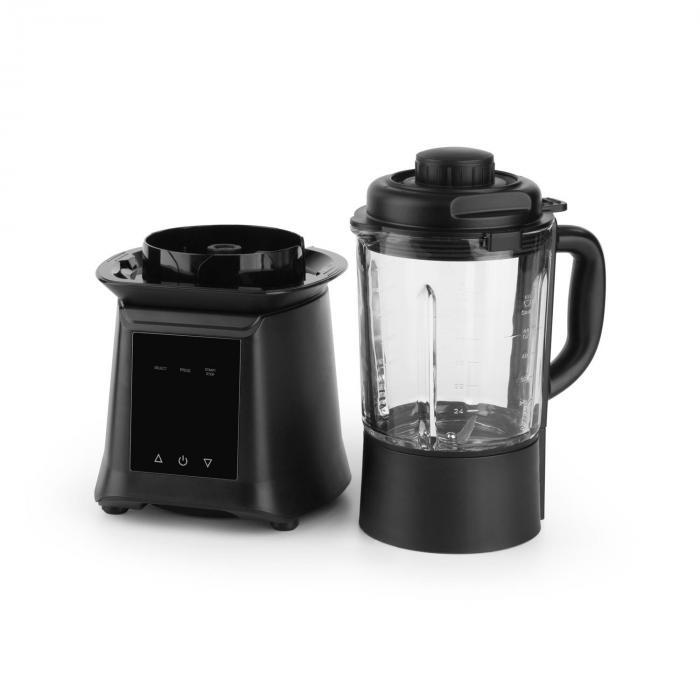 Herakles Heat Mixer per zuppe 1300W/1,7CV 900W 1,75l senza BPA Vetro Nero