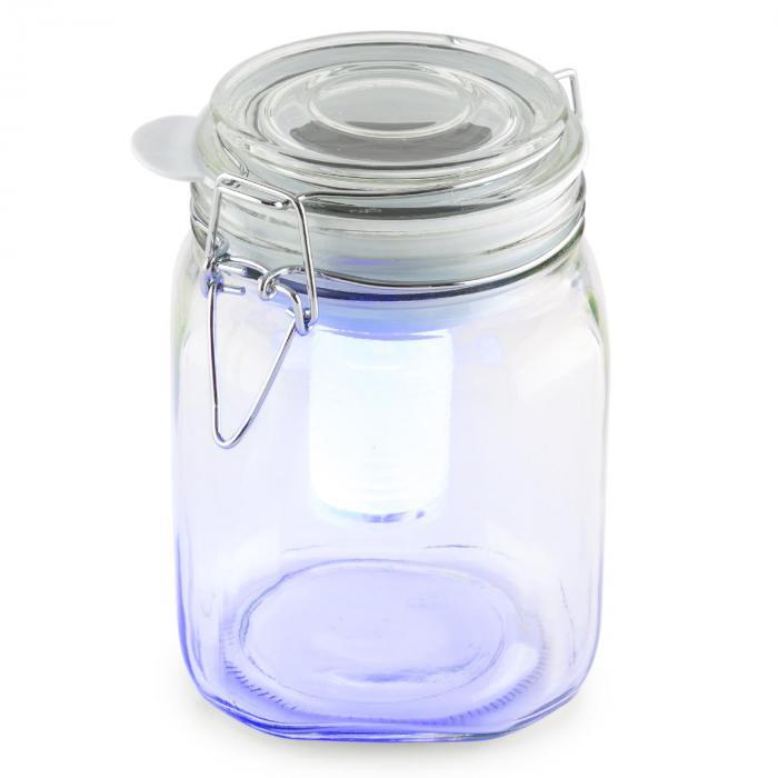 Wetterfrosch LED-tunnelmavalo sinikeltainen umpiolasi aurinkovoima akku