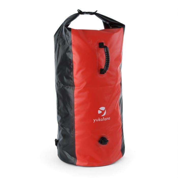 Yukatana Quintono 100 Morski plecak trekkingowy 100 litrów wodoodporny czarny/czerwony