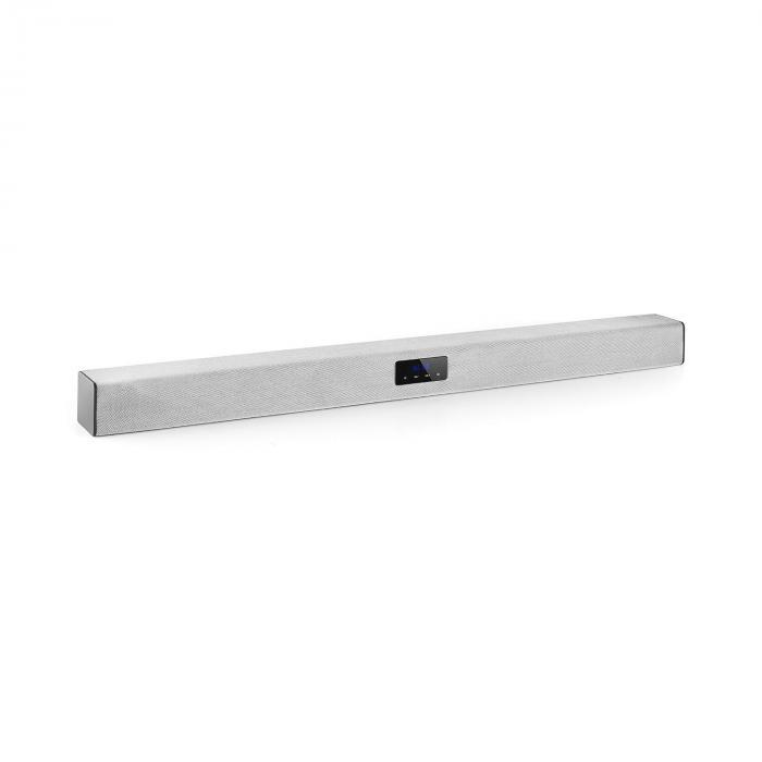 Auna Areal Bar 150 Soundbar (projektor dźwiękowy) Bluetooth USB SD 2 x AUX z pilotem srebrny