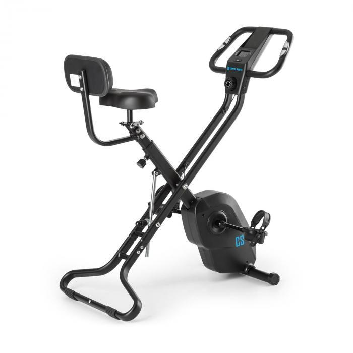 Capital Sports Azura X2 Trenażer rowerowy do 120 kg pulsomierz składany 4 kg czarny