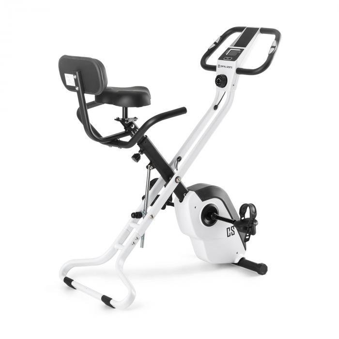 Capital Sports Azura X1 Trenażer rowerowy do 120 kg pulsomierz składany 4 kg biały