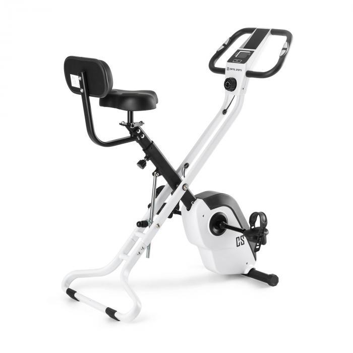 Capital Sports Azura X2 Trenażer rowerowy do 120 kg pulsomierz składany 4 kg biały