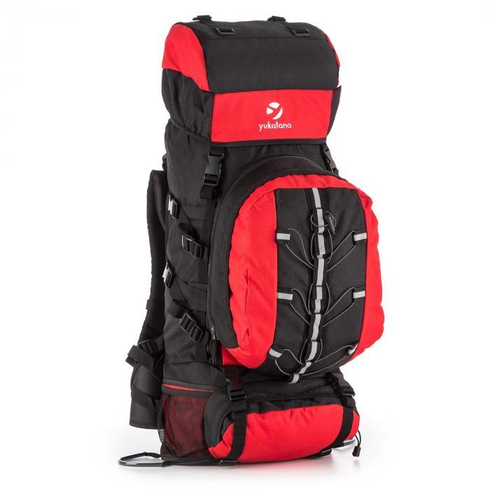 Yukatana Almer plecak trekkingowy 80l 40x80x35 cm daypack czarny/czerwony