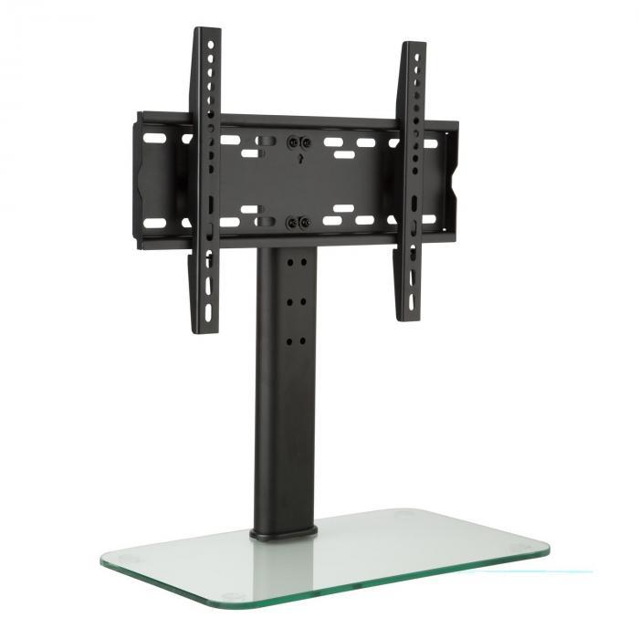Auna Stojak TV rozmiar M wysokość 56 cm regulacja wysokości 23–47 cali podstawa szklana