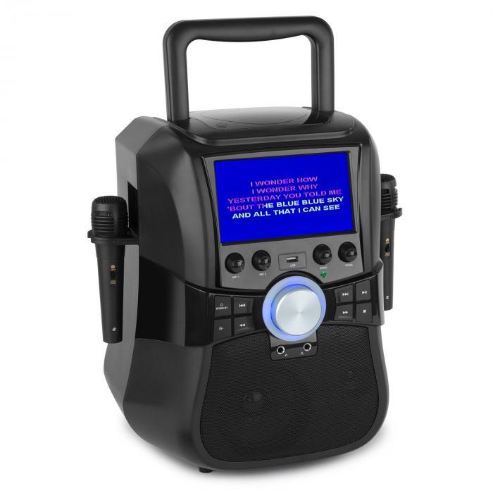 Stage Hero mobile Karaoke-Anlage Bluetooth DVD ...