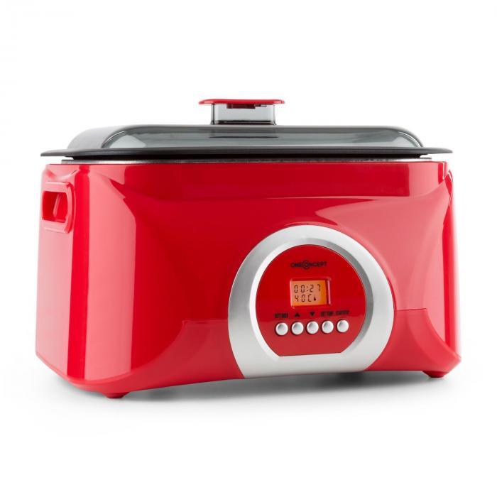 OneConcept Sanssouci gotowanie Sous-vide wolnowar 5 l 300 W czerwony