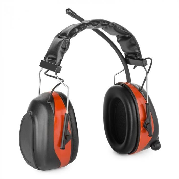 Jackhammer 2.0 Baustellen-Kopfhörer Lärmschutzkopfhörer UKW SNR 28dB AUX-In ABS/Stahl rot