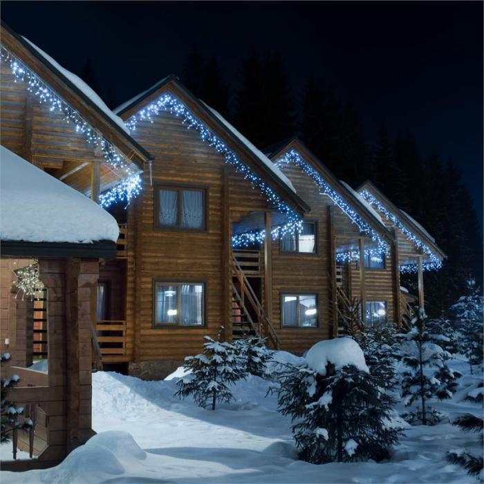 Dreamhouse Classic LED-valosarja jääpuikot 16 m 320 LED-valoa kylmäval