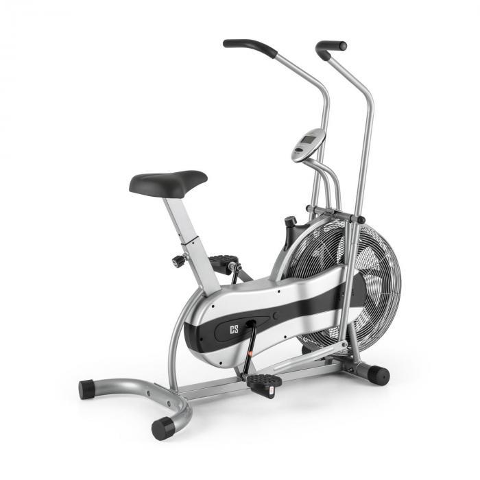 Capital Sports Stormstrike 2k Trenażer eliptyczny Ergometr rowerowy do 120 kg srebrny