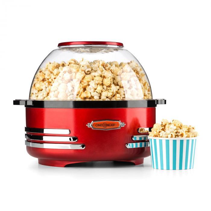 OneConcept Couchpotato Maszyna do popcornu elektryczna czerwona