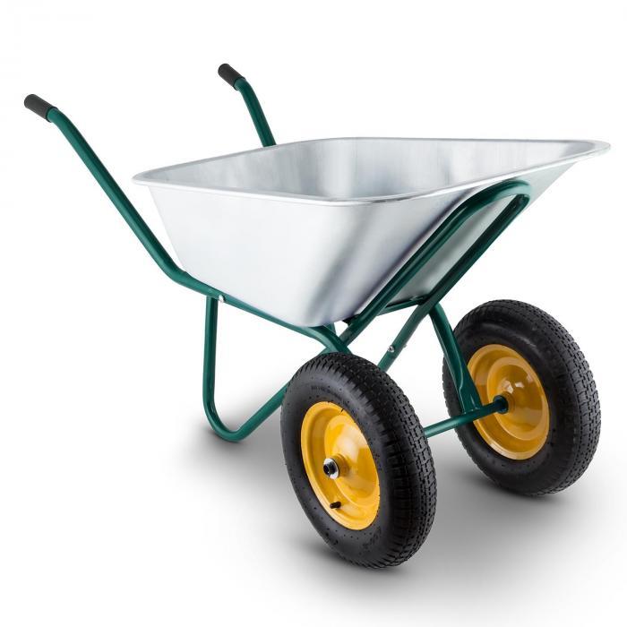 Heavyload Schubkarre 120l 320kg Gartenkarre 2-Rad Stahl grün