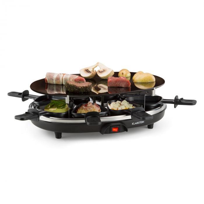 blackjack raclette grill 8 personen glaskeramik edelstahl schwarz online kaufen elektronik. Black Bedroom Furniture Sets. Home Design Ideas