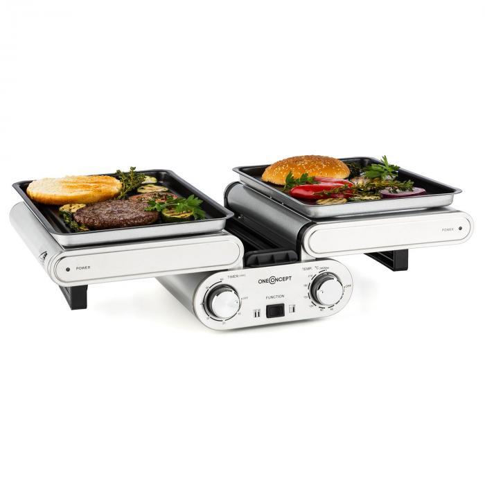 OneConcept Butterfly Grill wielofunkcyjny Stół grillowy elektryczny 1200 W 240°C Timer