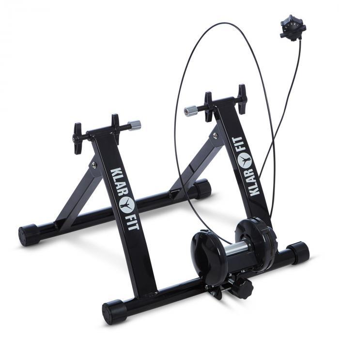 Tourek Rullo Bicicletta Allenamento Indoor 26/28 Pollici 100 kg Acciaio Nero