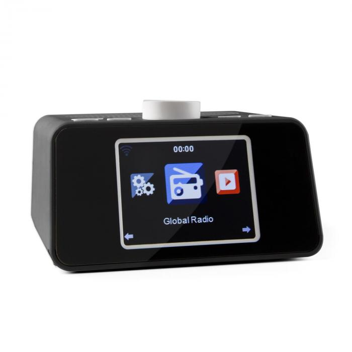 "i-snooze Internet radio WLAN USB AUX 3.2"" TFT Color Display black"