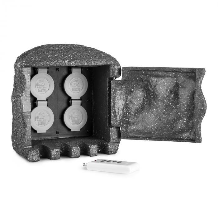 Power Rock Remote ulkopistorasia 4-osainen jakorasia 1,5 m kivi tummanharmaa