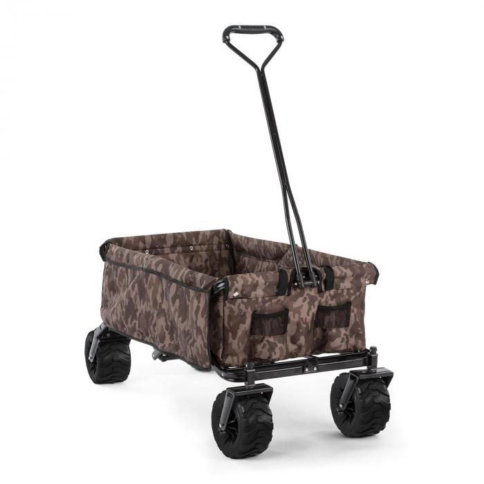 Waldbeck The Camou Wózek domowy Wózek ręczny składany 70 kg 90 l Koła Ø10cm kamuflażowy