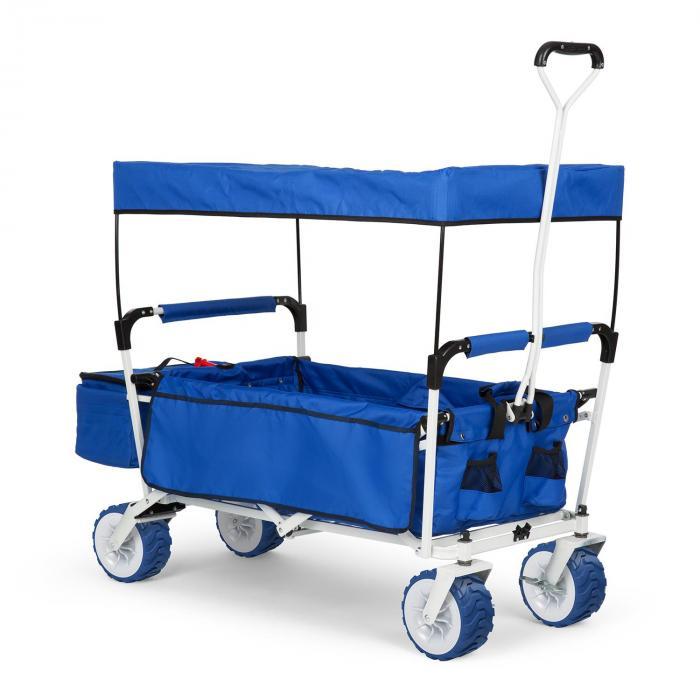 Waldbeck The Blue Supreme Wózek domowy Wózek ręczny składany 68 kg Dach przeciwsłoneczny