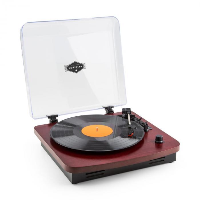 TT370 Giradischi Retro con Altoparlante USB MP3 AUX Rosso Ciliegia