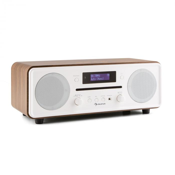 Melodia CD DAB + / FM Desktop Radio Player Bluetooth Alarm Snooze Walnut