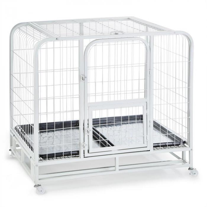 Hundeinternat Gabbia addestramento cani 104x78x102cm Vaschetta PVC Metallo