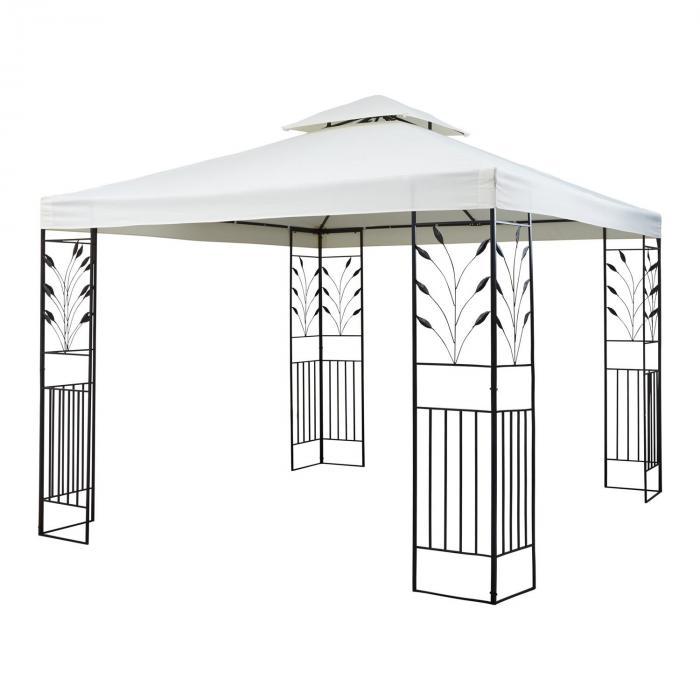 odeon beige pavillon partyzelt festzelt 3x3m stahl. Black Bedroom Furniture Sets. Home Design Ideas
