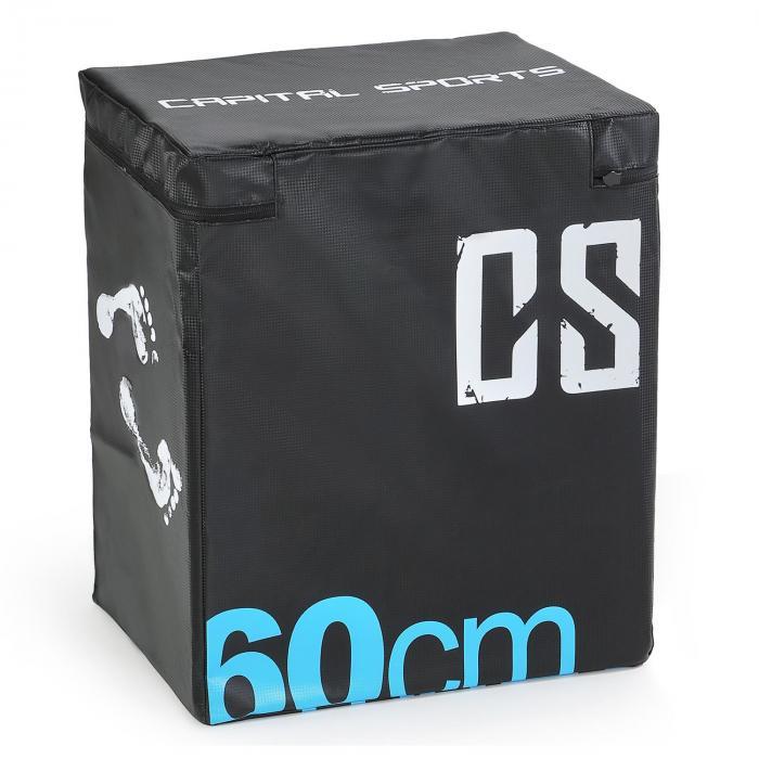 Capital Sports Rooksy Skrzynia plyometryczna 60 x 50 x 30 cm czarna