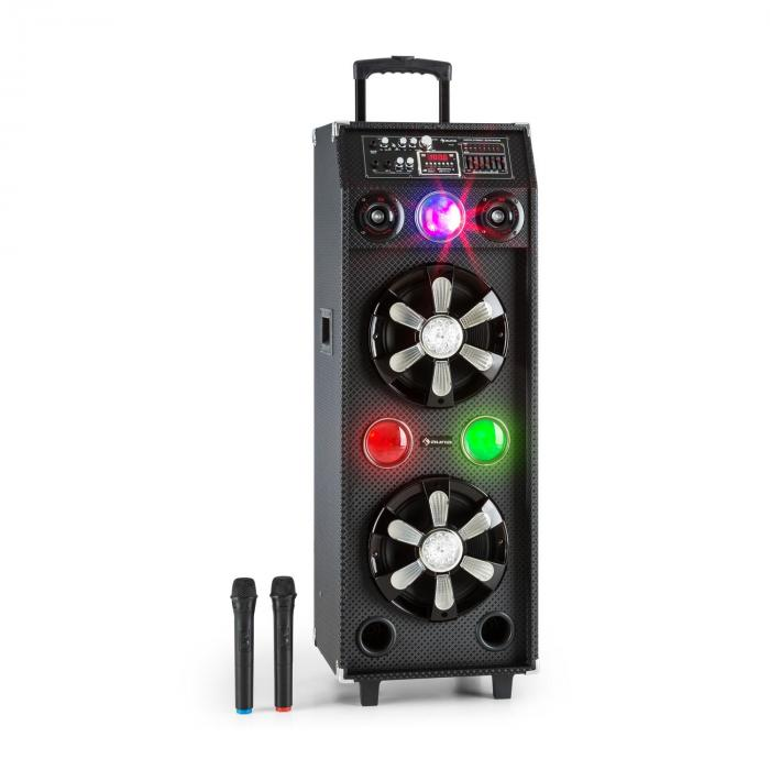DisGo Box 2100 mobile Dj speaker with Discolight 100W RMS Bluetooth
