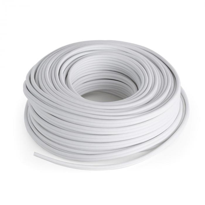 Speaker Cable - CCA Aluminium-Copper 2 x 2.5 mm 30 m White