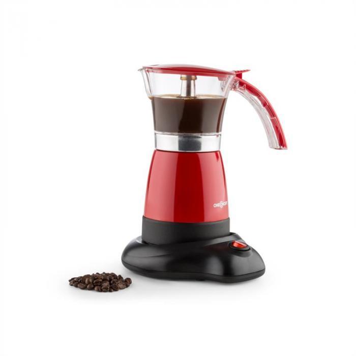 Funpresso espressokeitin sähkökäyttöinen 6 kuppia 300 ml punainen