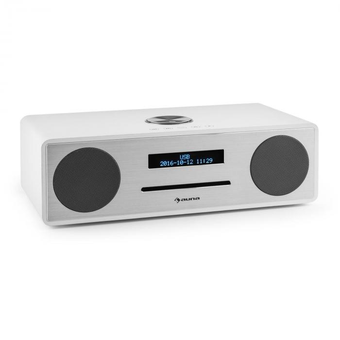 Stanford DAB-CD-radio DAB+ bluetooth USB MP3 AUX UKW valkoinen