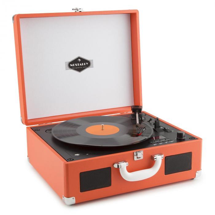 Peggy Sue CD OR kannettava retro-levysoitin CD USB SD oranssi